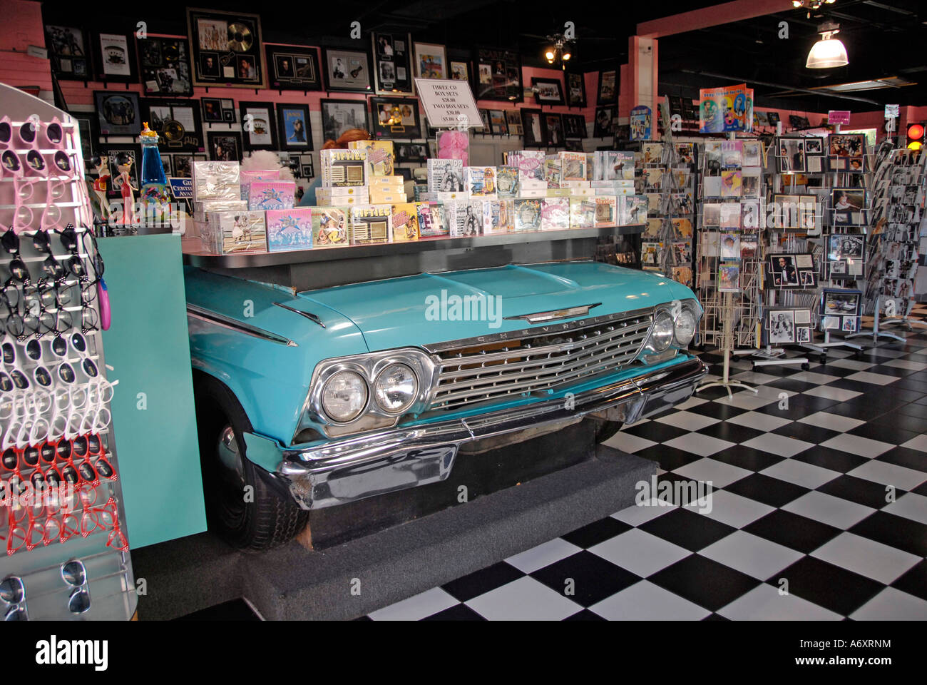 Antique Car Display In Old Town Area At Kissimmee Orlando