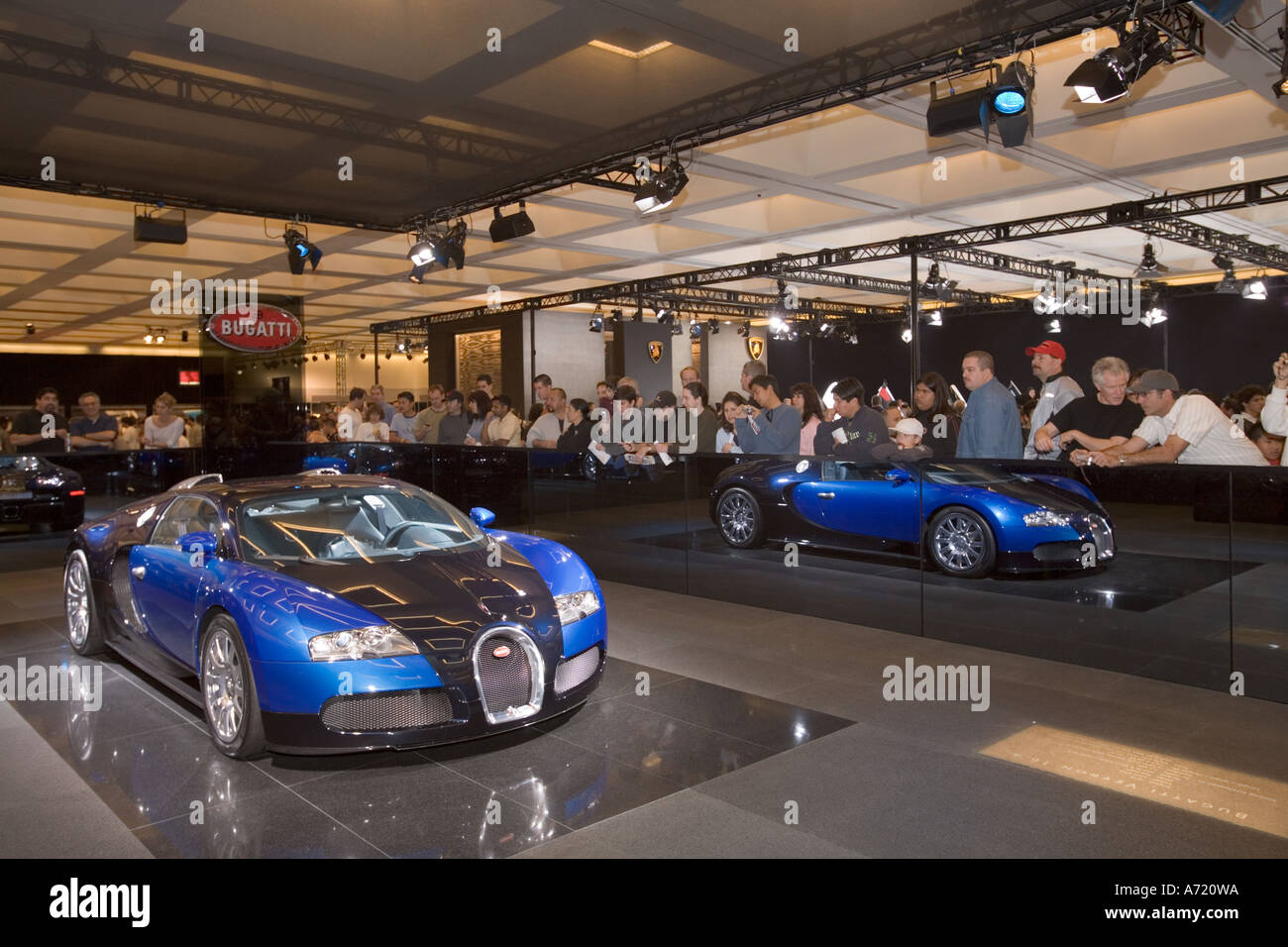 bugatti veyron car show at los angeles convention center los angeles stock photo royalty free. Black Bedroom Furniture Sets. Home Design Ideas
