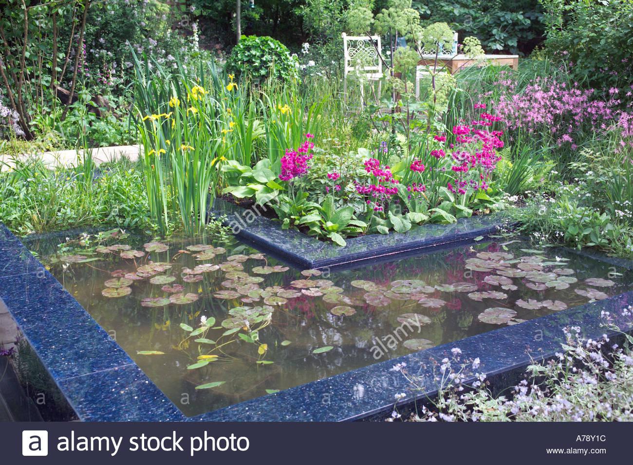 Wildlife friendly garden with pond aquatic plants for Pond friendly plants