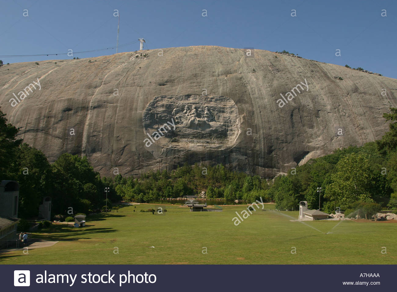 Stone mountain georgia park with tourist attractions and