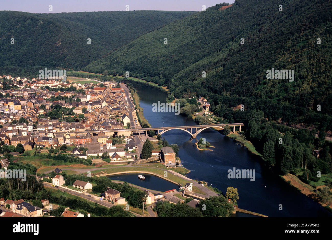 France ardennes revin village the ardennaise forest and - Plateforme meuse champagne ardenne ...