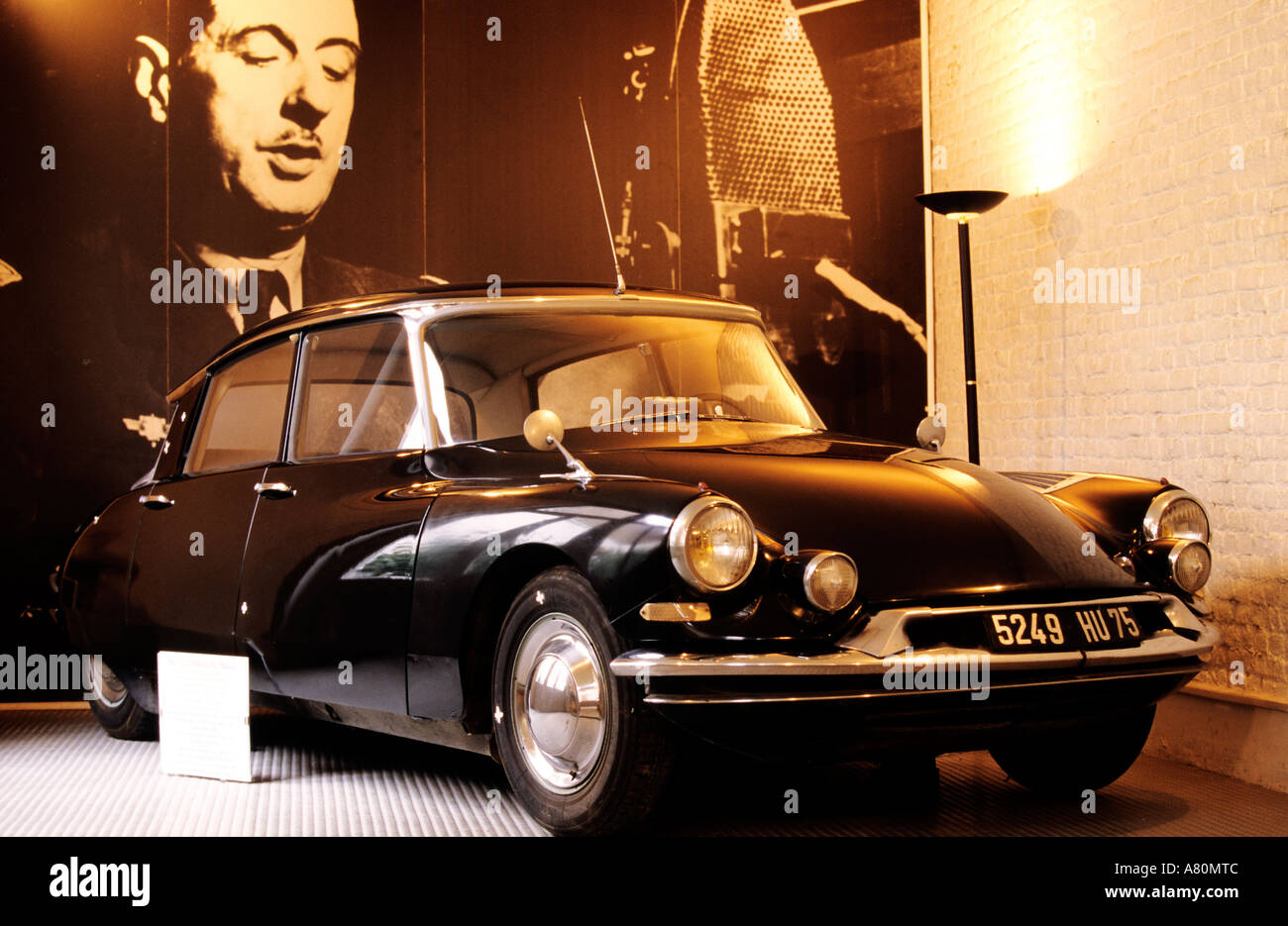 france nord lille charles de gaulle 39 s home museum citroen ds car stock photo royalty free. Black Bedroom Furniture Sets. Home Design Ideas