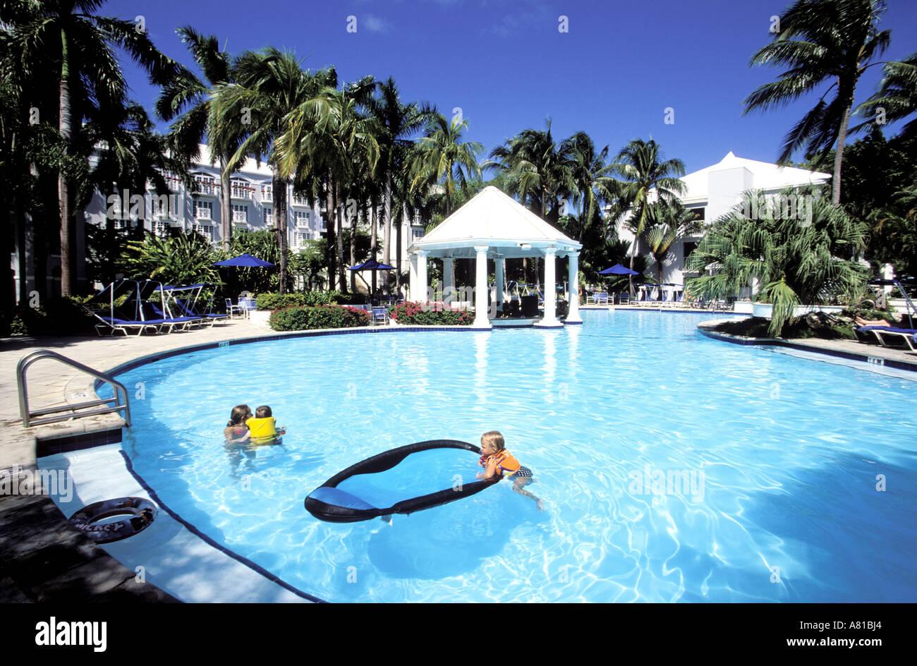 Cayman Islands Grand Cayman The Hotel Hyatt Swimming Pool Stock Photo Royalty Free Image