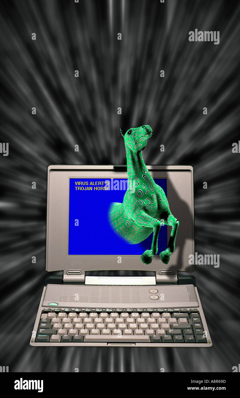 Trojan Horse Computer Virus Stock Photo, Royalty Free ...