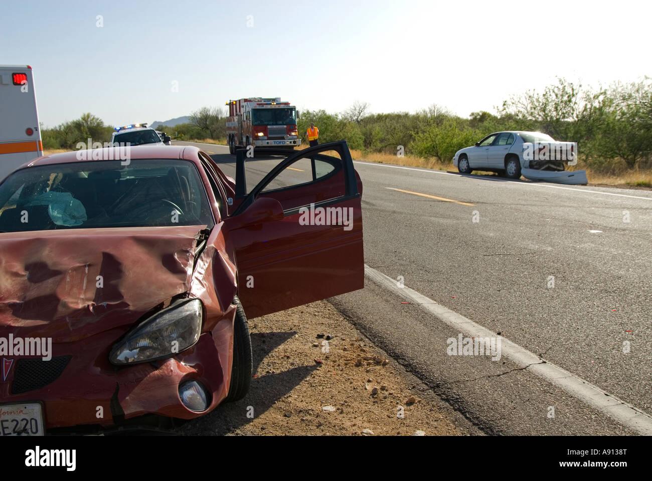 Car Crash On Route 86 Near Sells Arizona Usa Tohno O