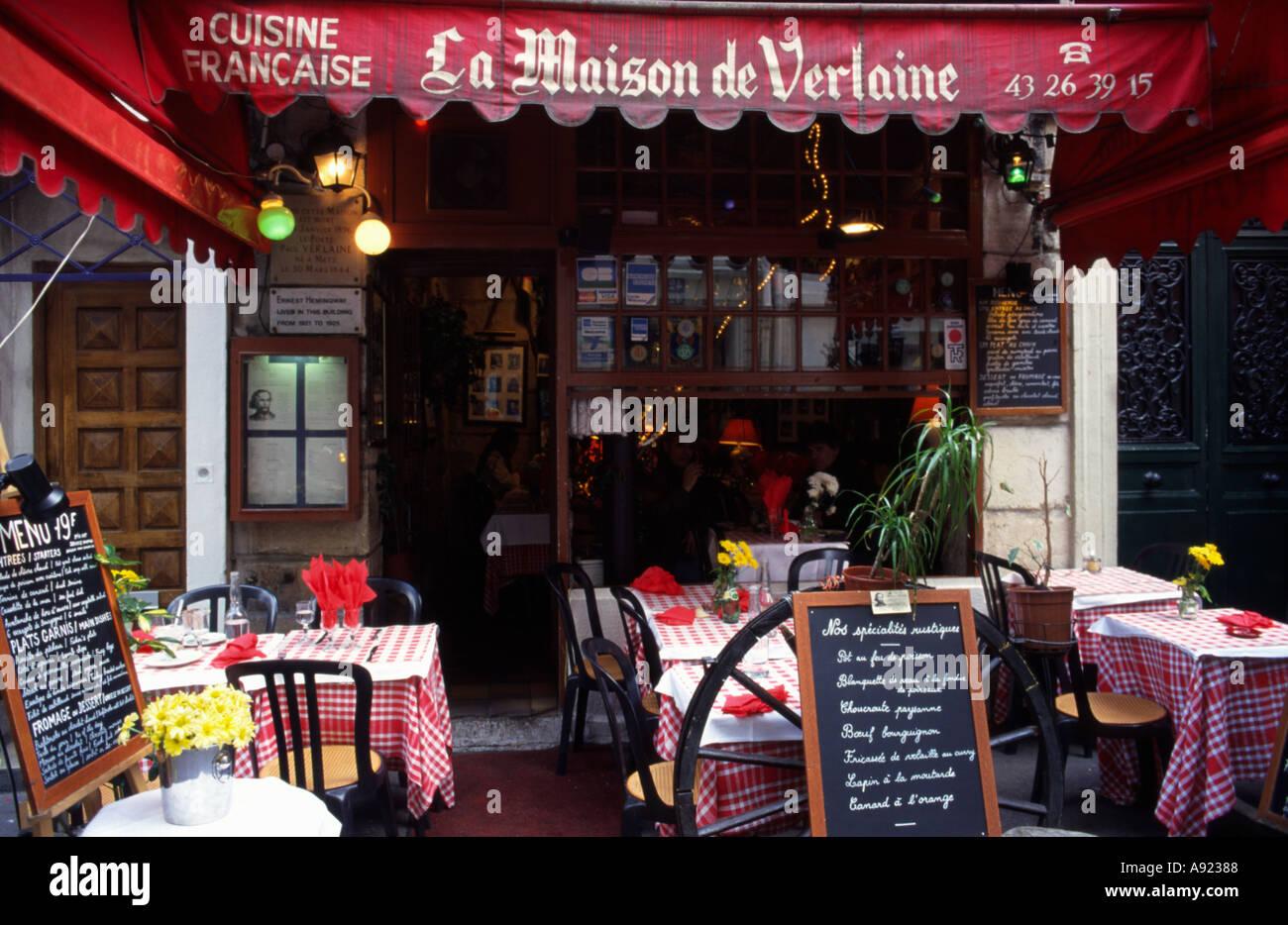 Famous french restaurant Verlaine at Paris Stock Photo