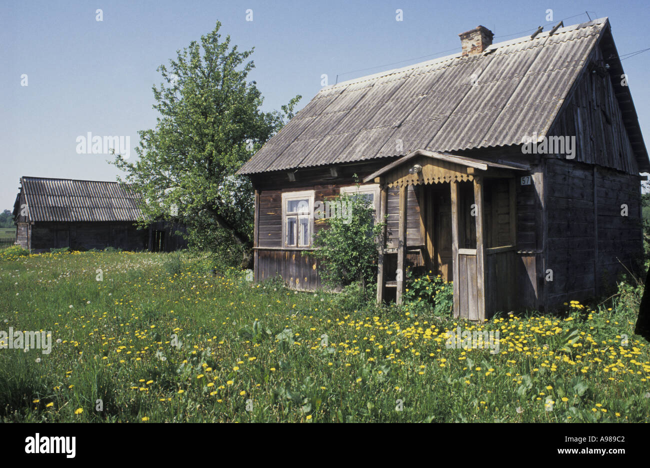 A Traditional Wood Built Polish Peasant S House On The Polish Stock Photo Royalty Free Image