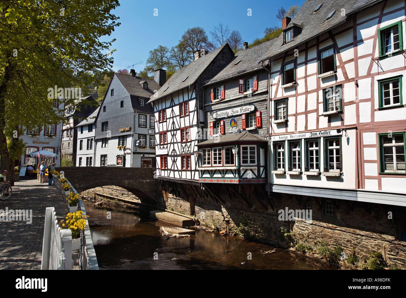German Village Of Monschau In The Eifel Region Rhineland