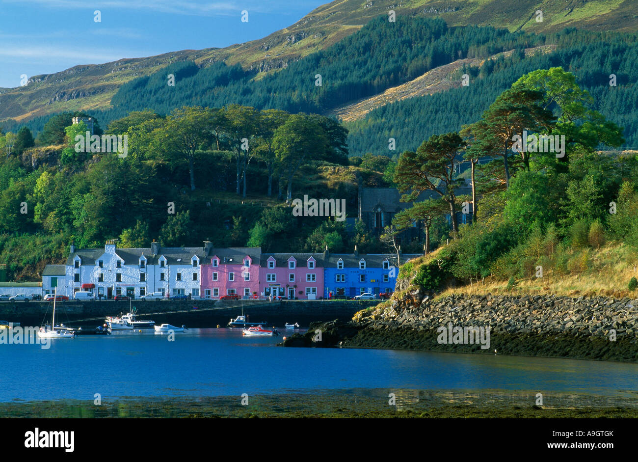 Portree Harbour Isle Of Skye Scotland Stock Photo Royalty