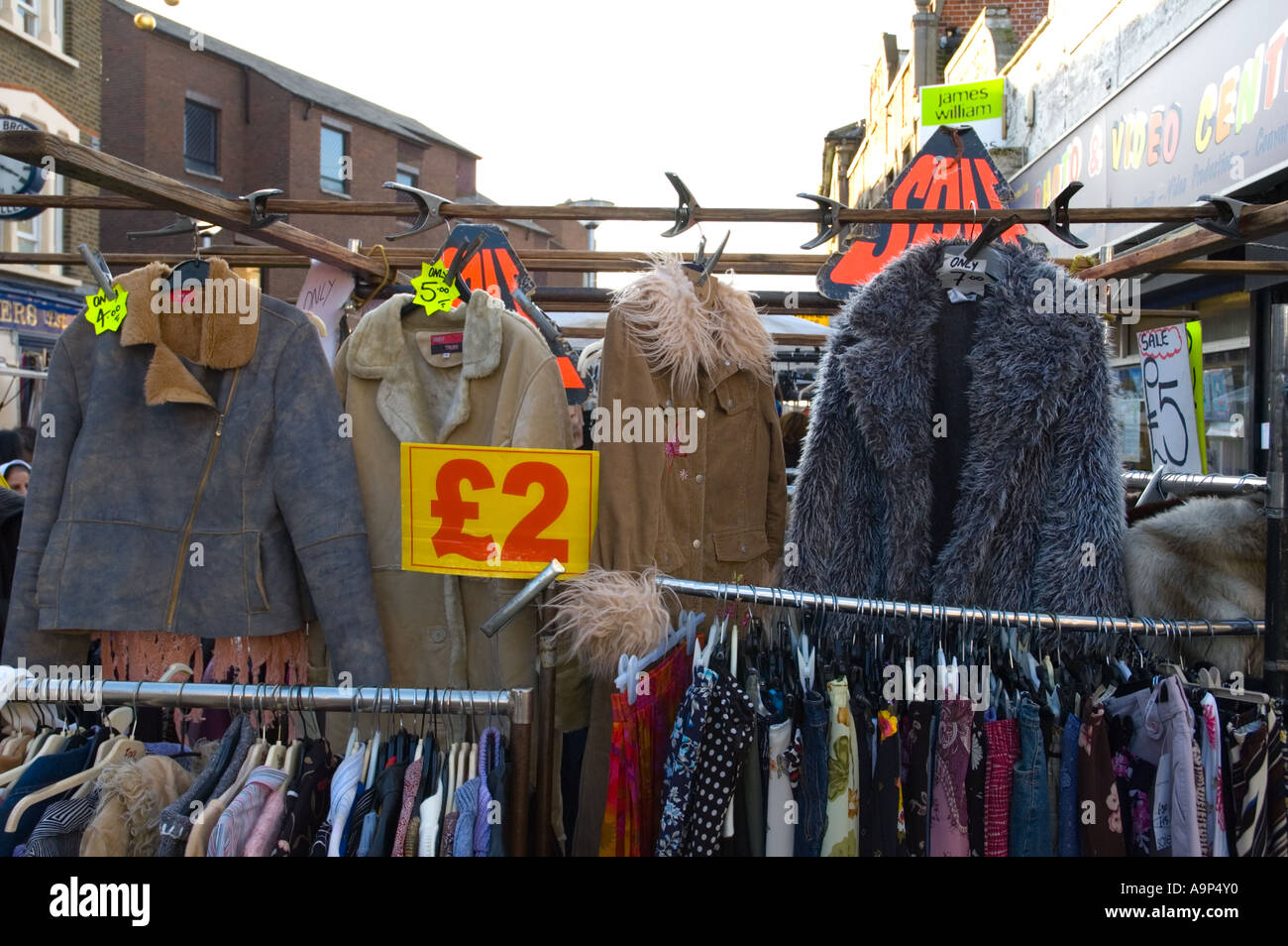 Cheap Clothing At Walthamstow Market In East London Capital Of