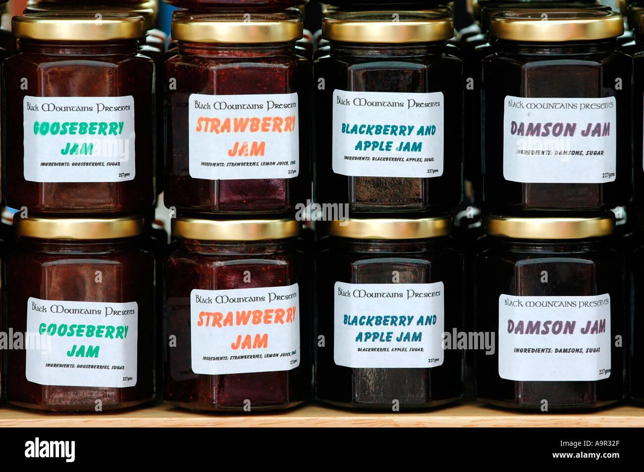 jars of jam for sale at the annual abergavenny food. Black Bedroom Furniture Sets. Home Design Ideas