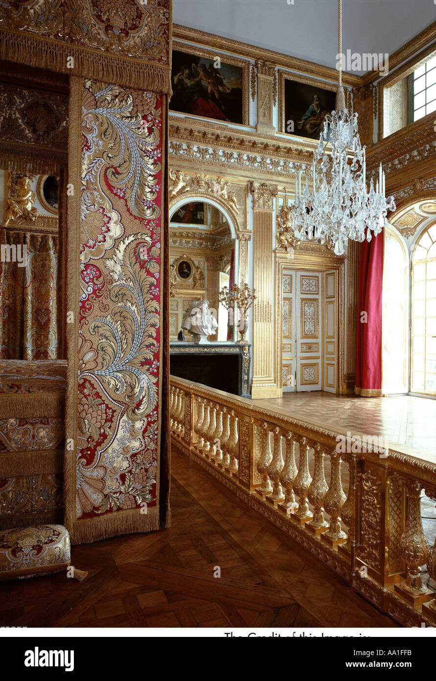 Palace of versailles chambre du roi louis xiv stock photo for Chambre louis xvi versailles