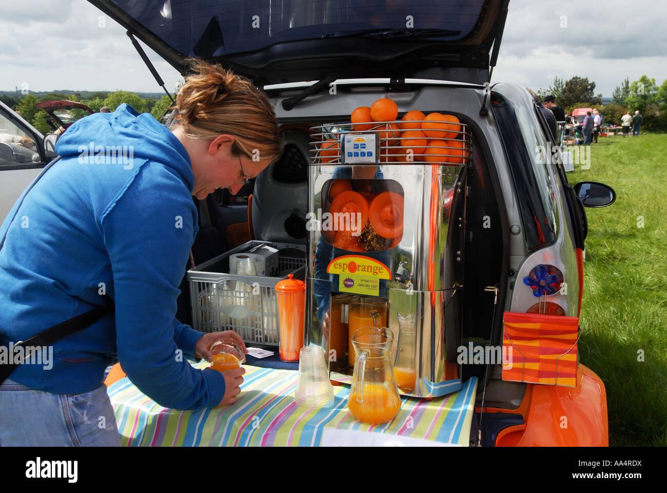 Cornwall England Truro Car Boot Sale Selling Fresh Orange