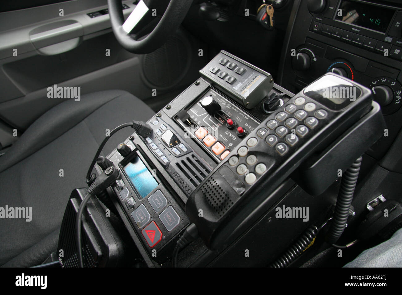 police car radio and emergency equipment control panel stock photo royalty free image 12526145. Black Bedroom Furniture Sets. Home Design Ideas