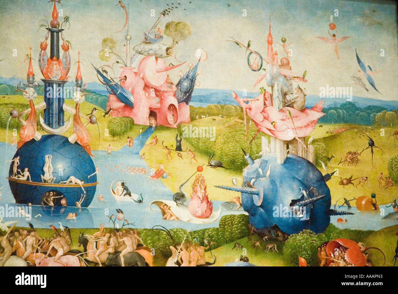 The Garden Of Earthly Delights Painting By Hieronymus Bosch Prado Stock Photo Royalty Free