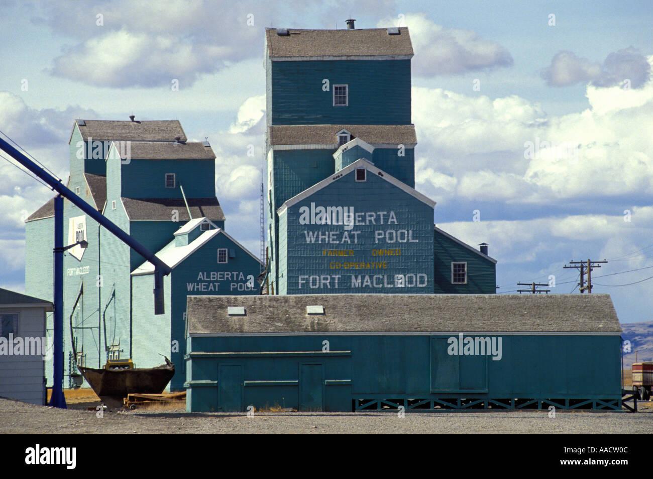 Alberta Wheat Pool Storage For Grain Harvest Near Pincher Creek In Stock Photo Royalty Free