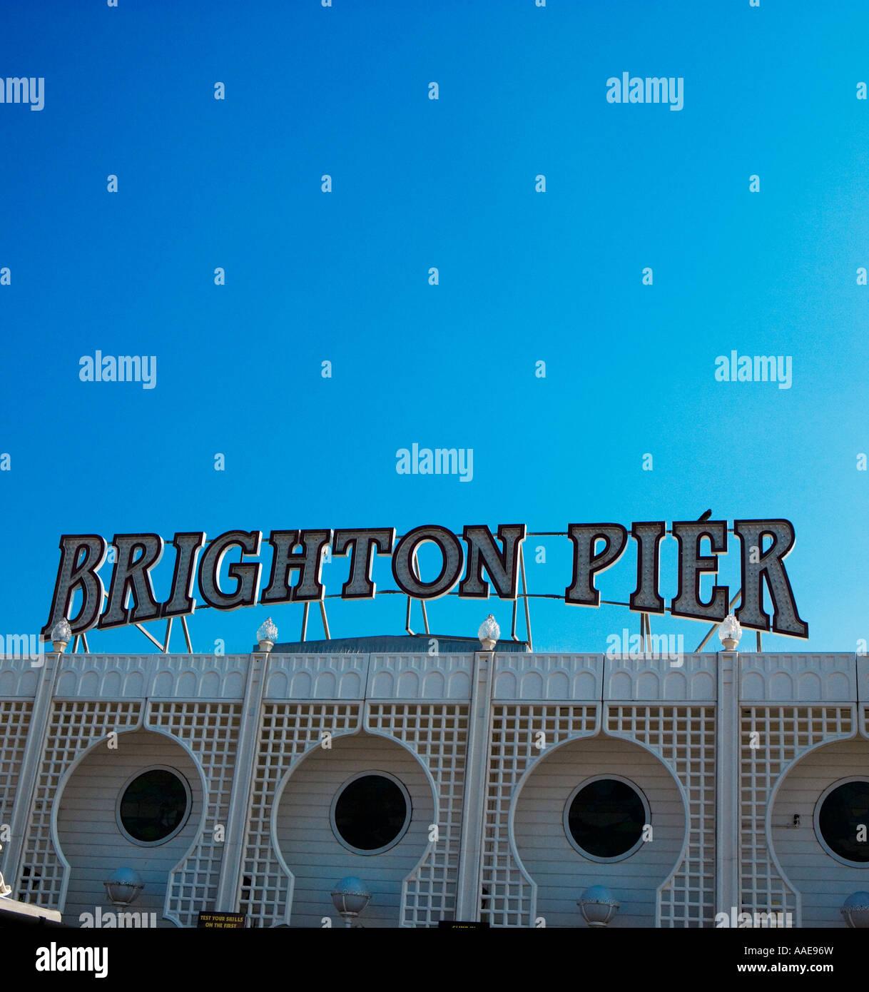 Brighton Pier, Brighton, England Stock Foto