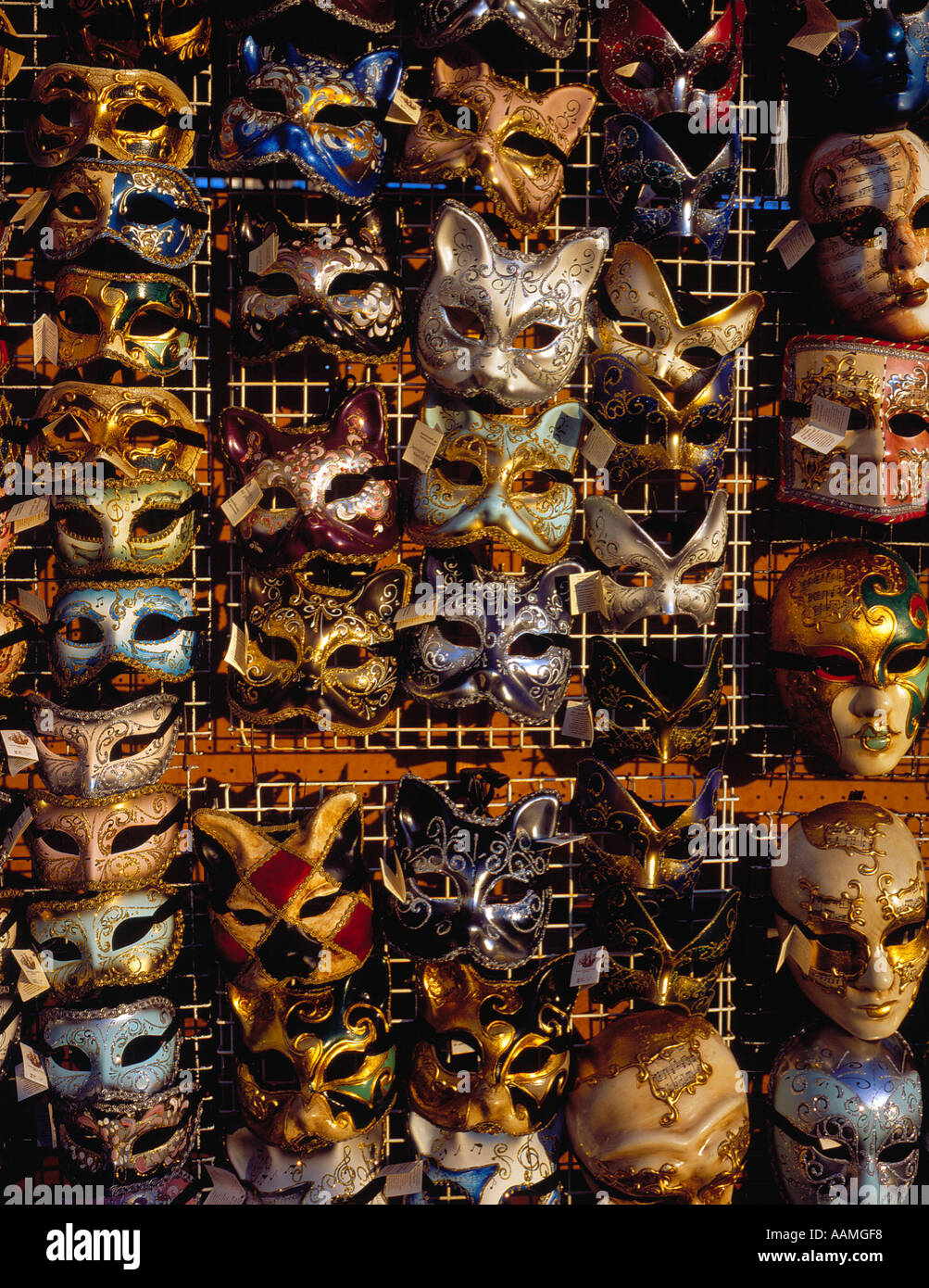 masks for sale in Venice Italy Europe. Photo by Willy Matheisl Stock Photo