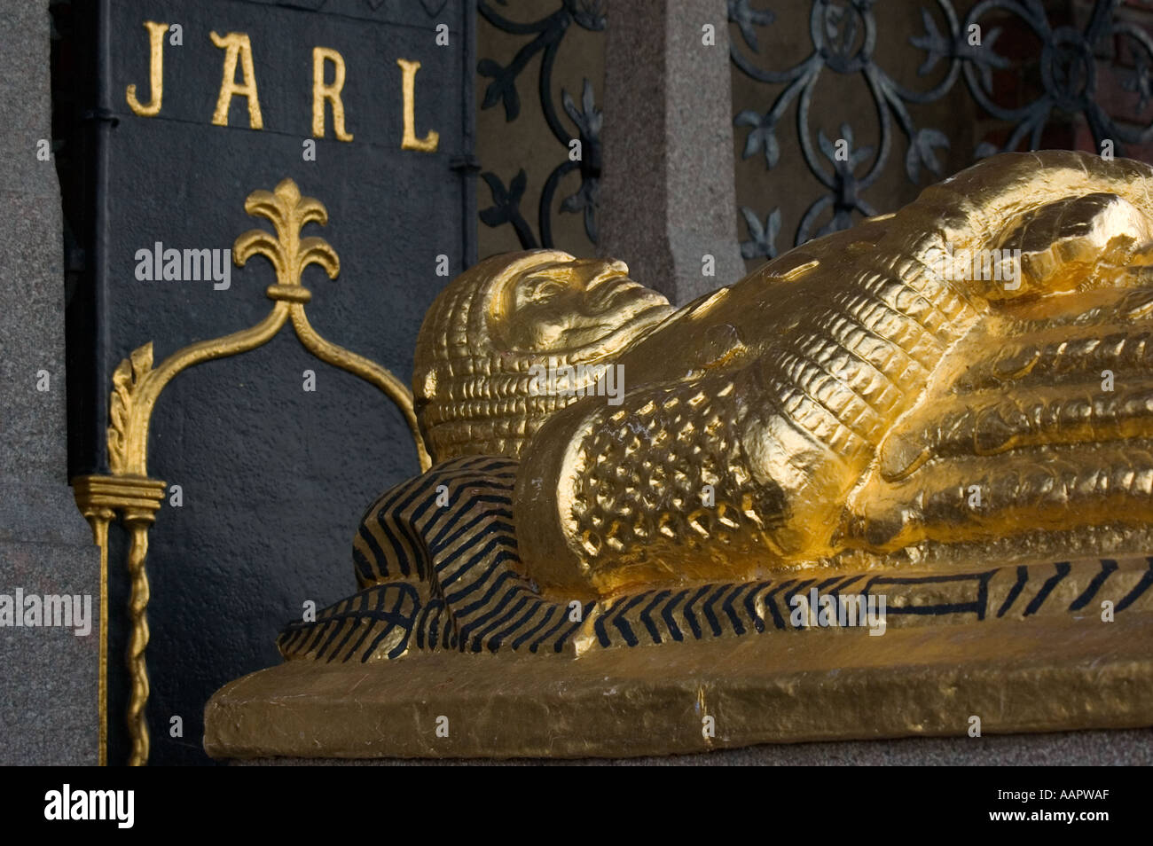 Sweden, Stockholm, Stadshuset, Tomb of Birger Jarl Stock Photo