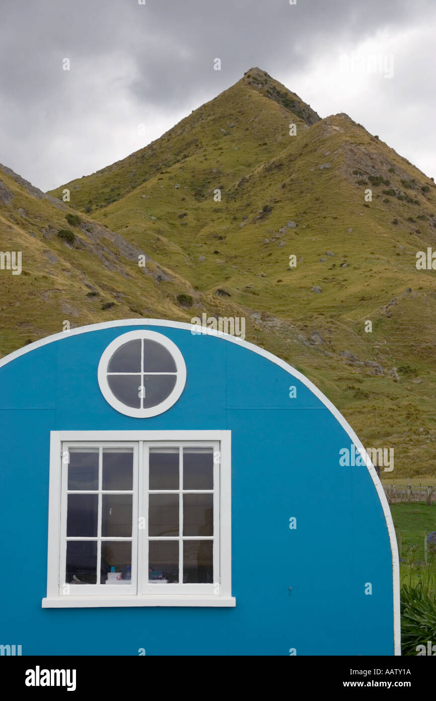 Dwelling at Tora in New Zealand Stock Photo