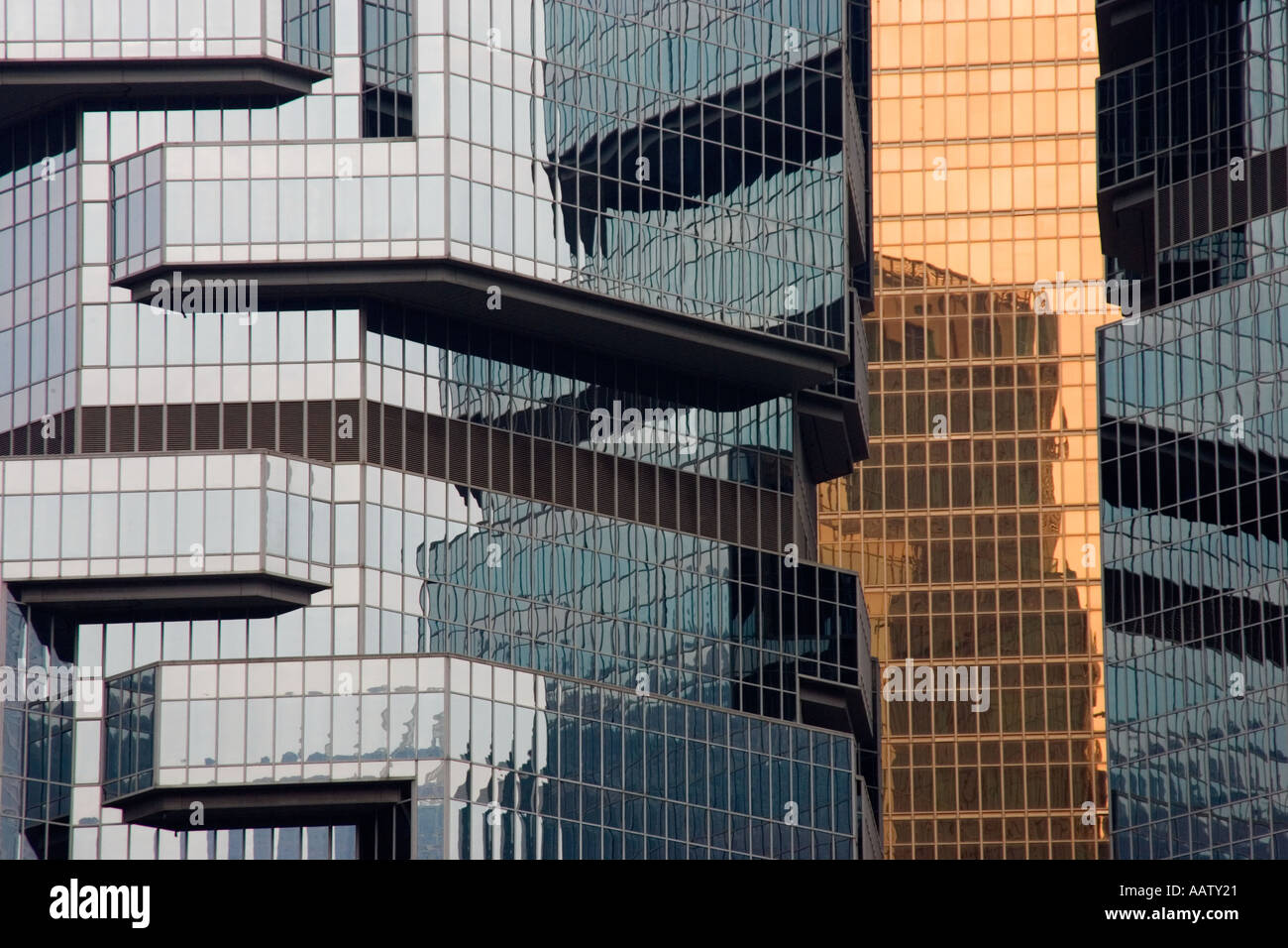 Detail of the Lippo Building in Hong Kong Stock Photo