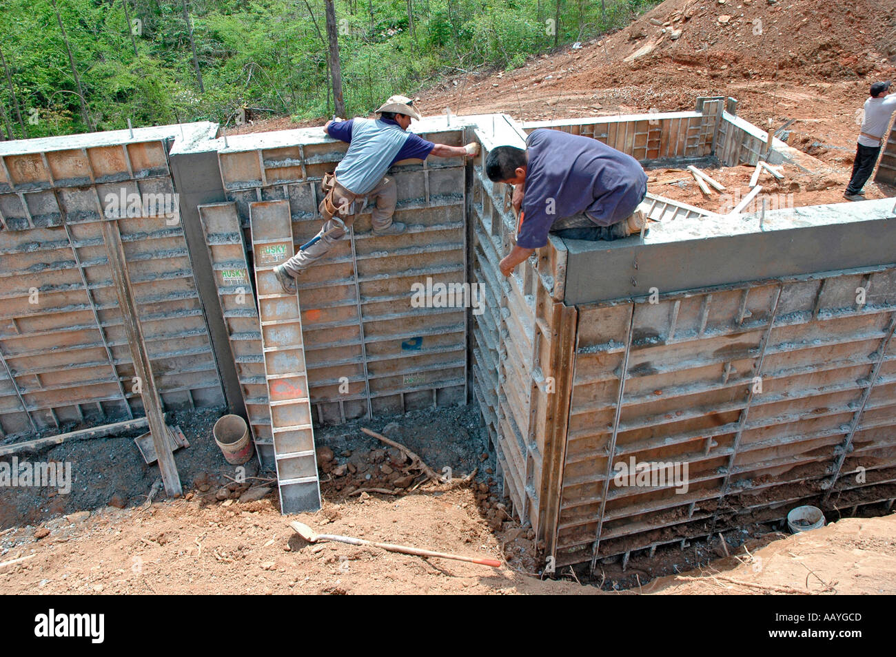 Taking Down Steel Re Usable House Construction Foundation