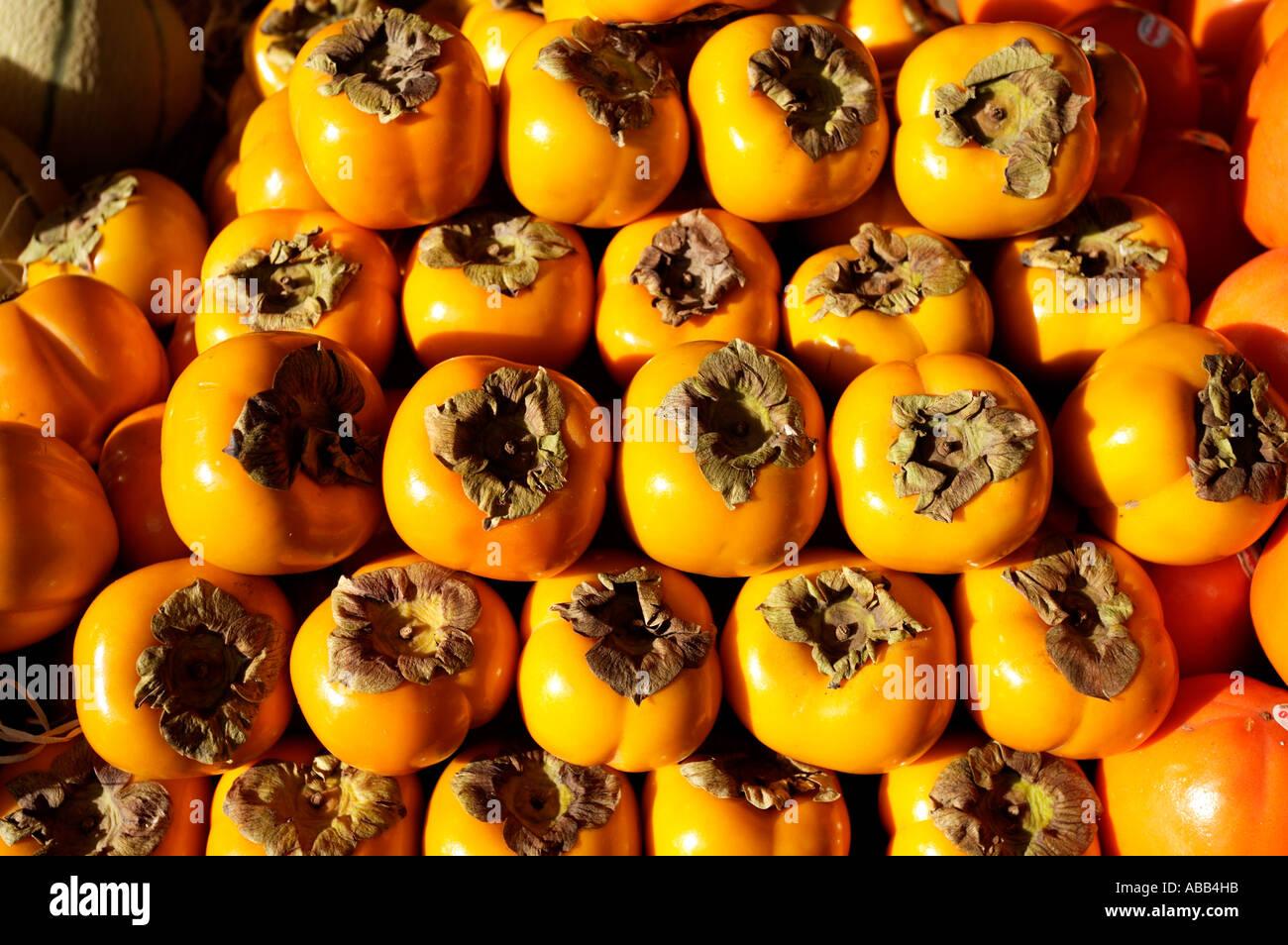Paris, Sharon Fruit Stock Photo