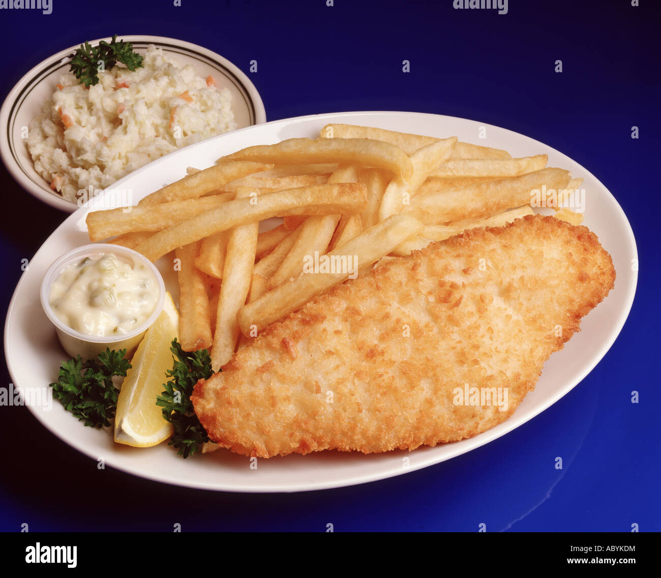 Fried fish fillet dinner chips french fry fries tartar for Fried fish dinner