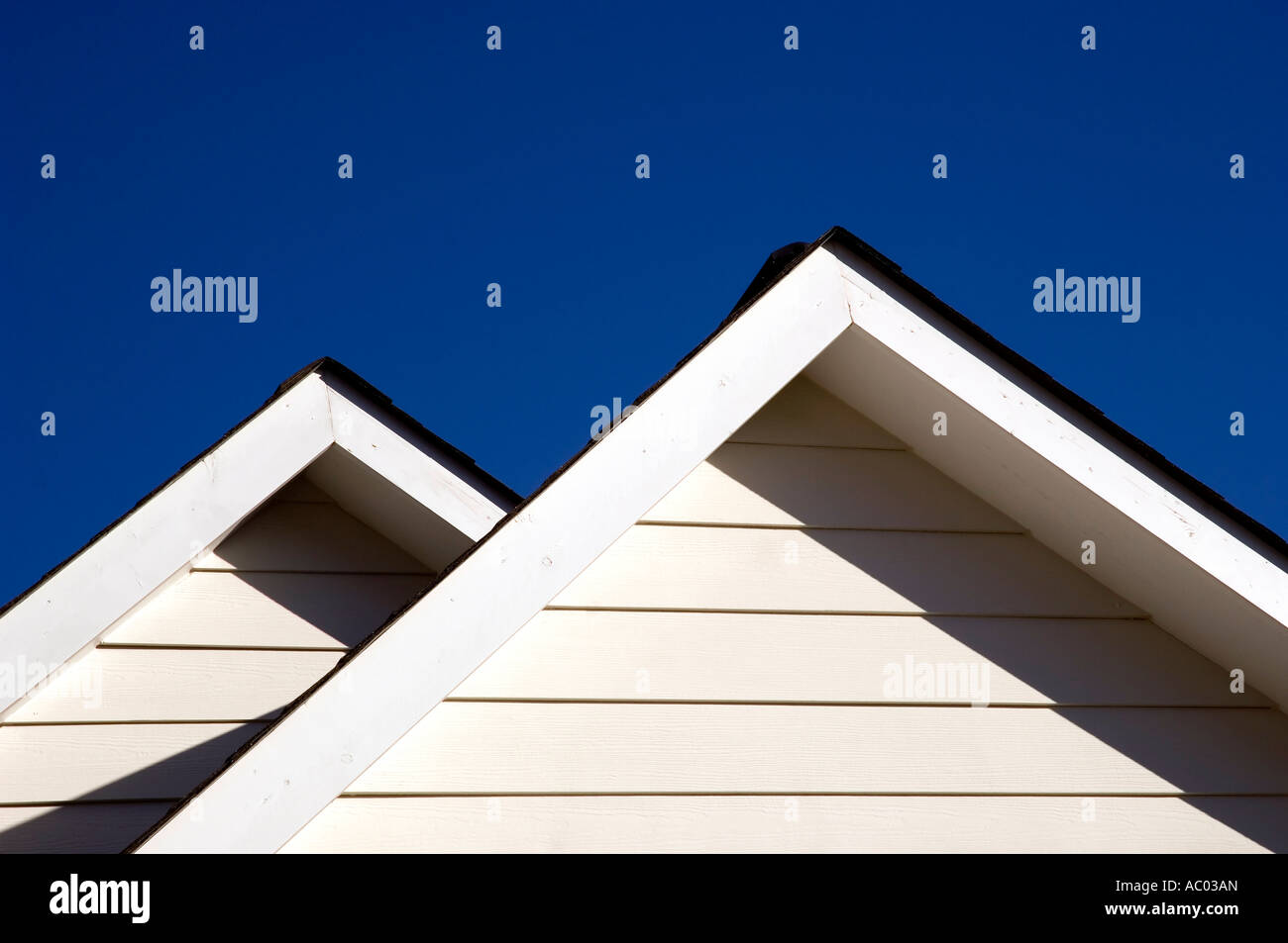 The Twin Peaks Of The Roof Of A House In Durham Nc Us