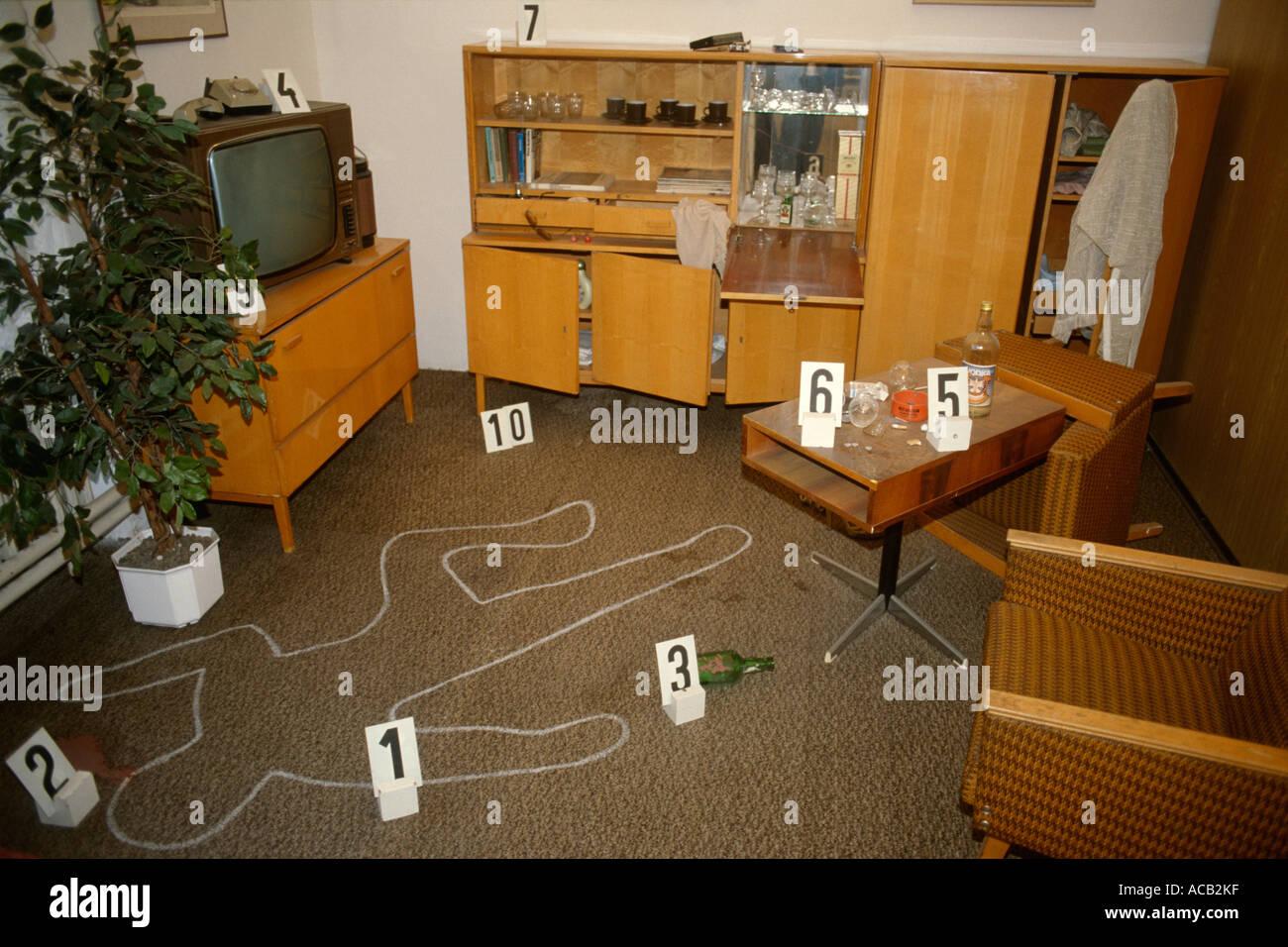Crime Scene Living Room