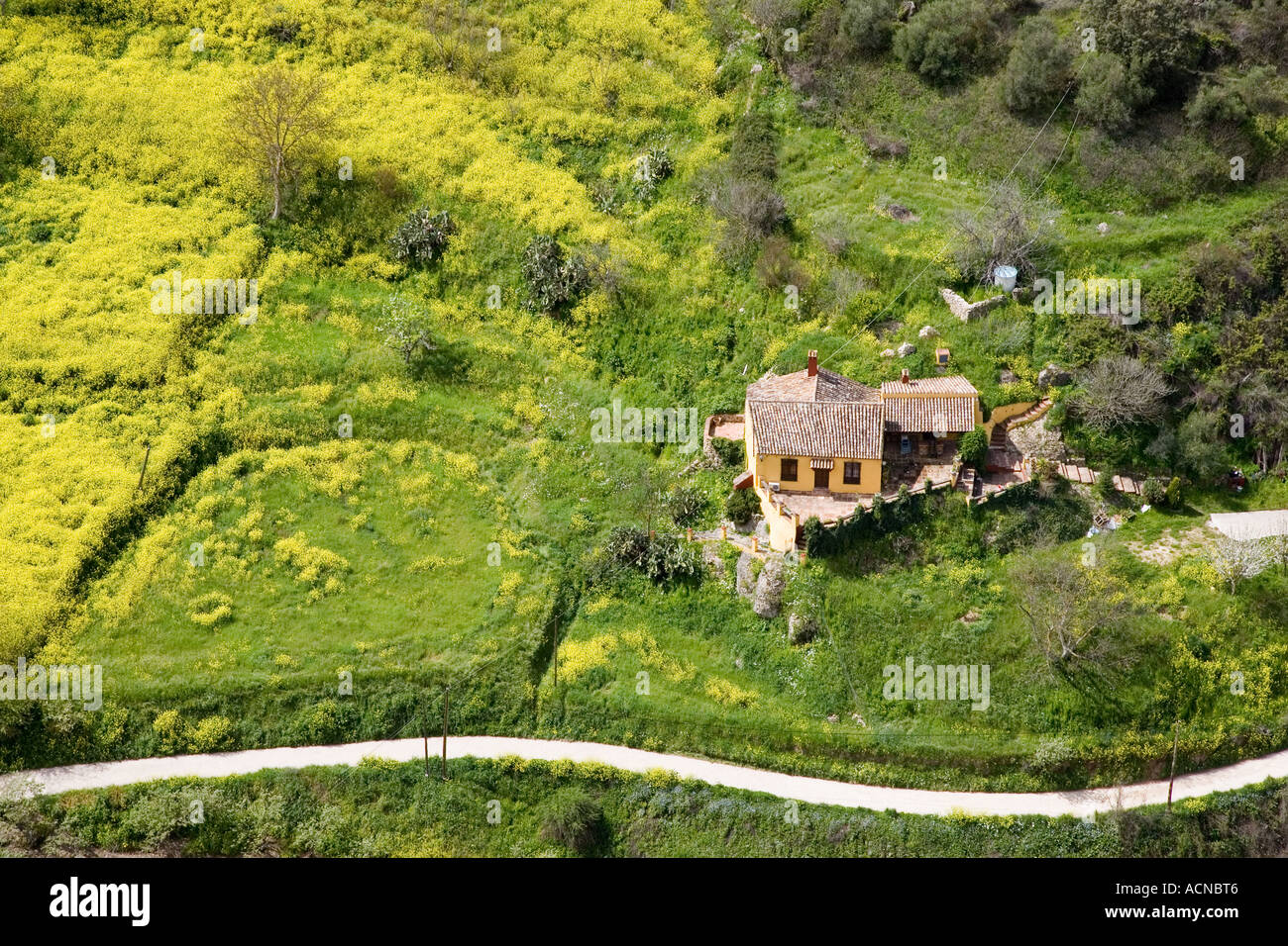 Aerial view of a country house ronda spain stock photo for See images of my house