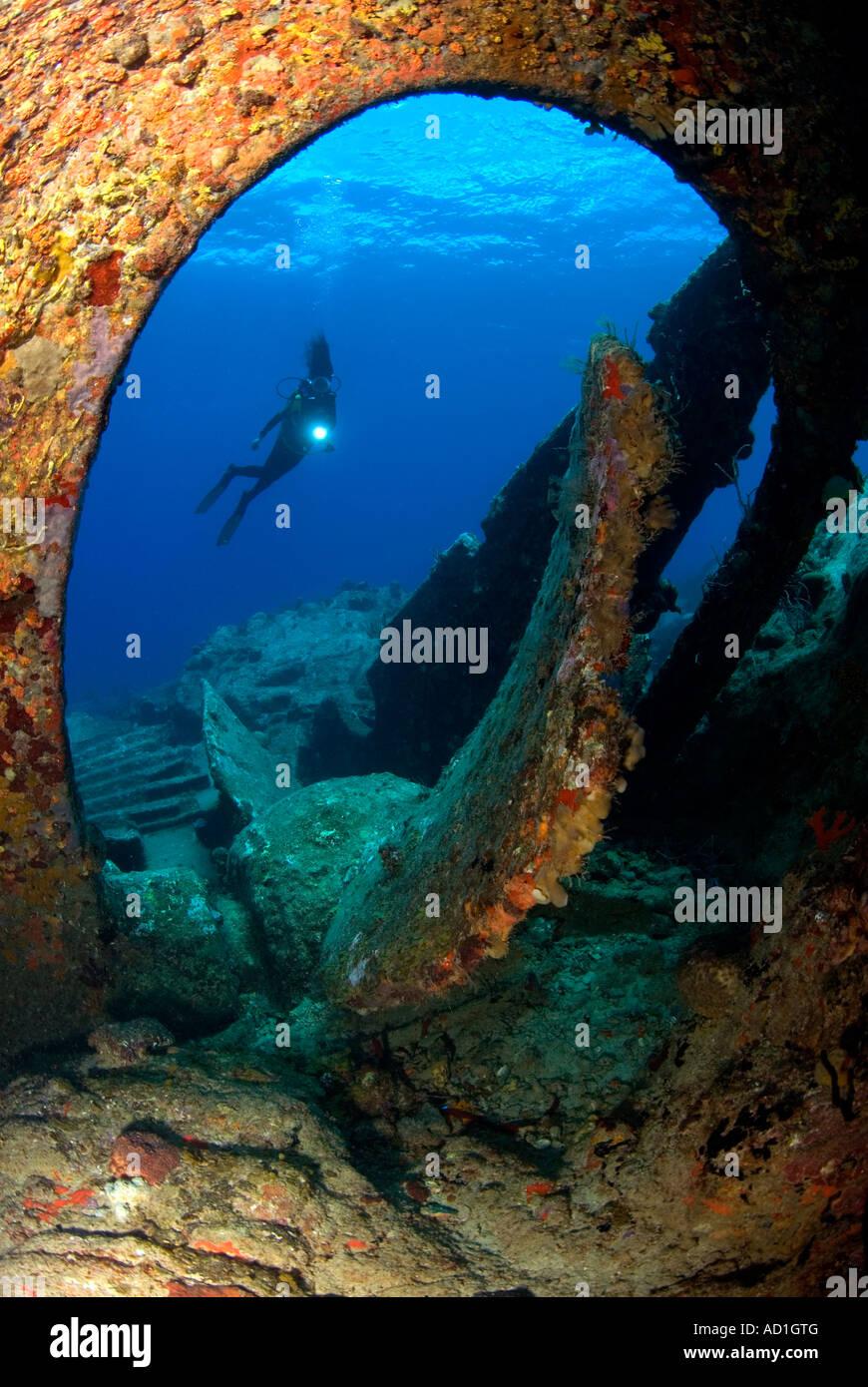 Rhone Wreck Tortola British Virgin Islands BVI, Underwater