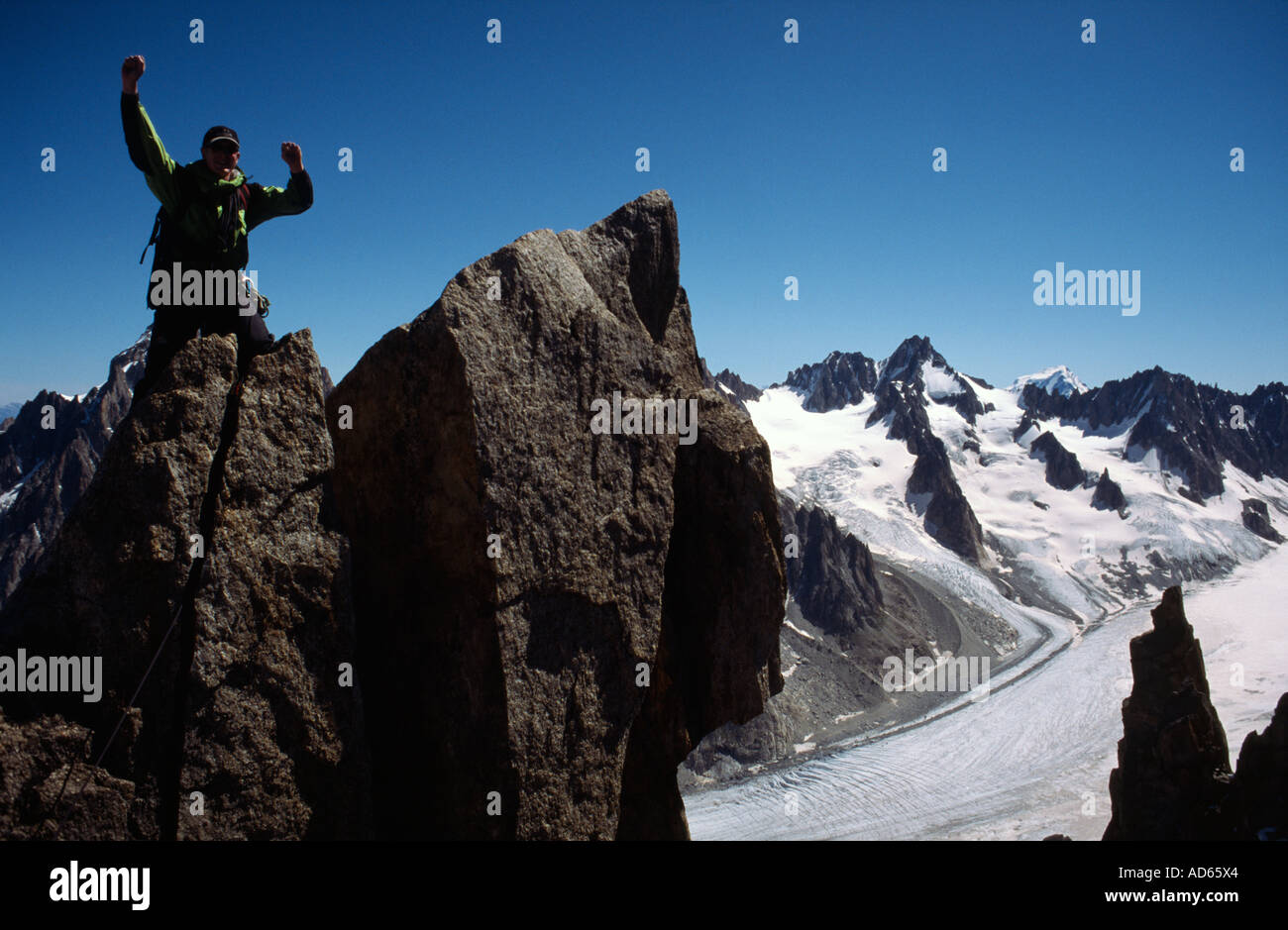 PICTURE CREDIT DOUG BLANE Richard Boud Mountaineering in Chamonix France Stock Photo