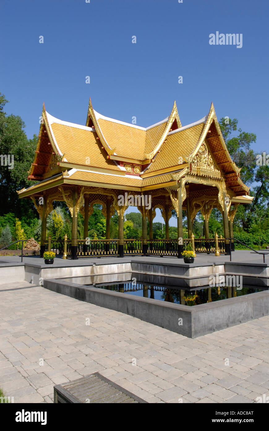 Thai Pavilion Pagoda And Garden At Olbrich Botanical Gardens In Stock Photo Royalty Free Image
