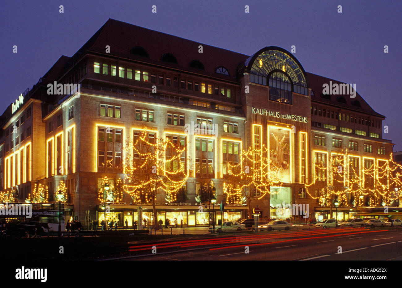 berlin kaufhaus des westens kadewe christmas time stock photo royalty free image 13411249. Black Bedroom Furniture Sets. Home Design Ideas