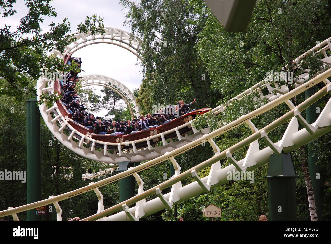 Detail of roller coaster at efteling theme park for Amusement park netherlands