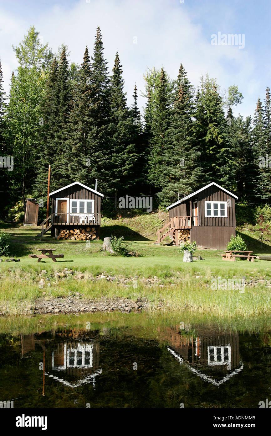 Lodge At Babine Lake In British Columbia Canada Stock