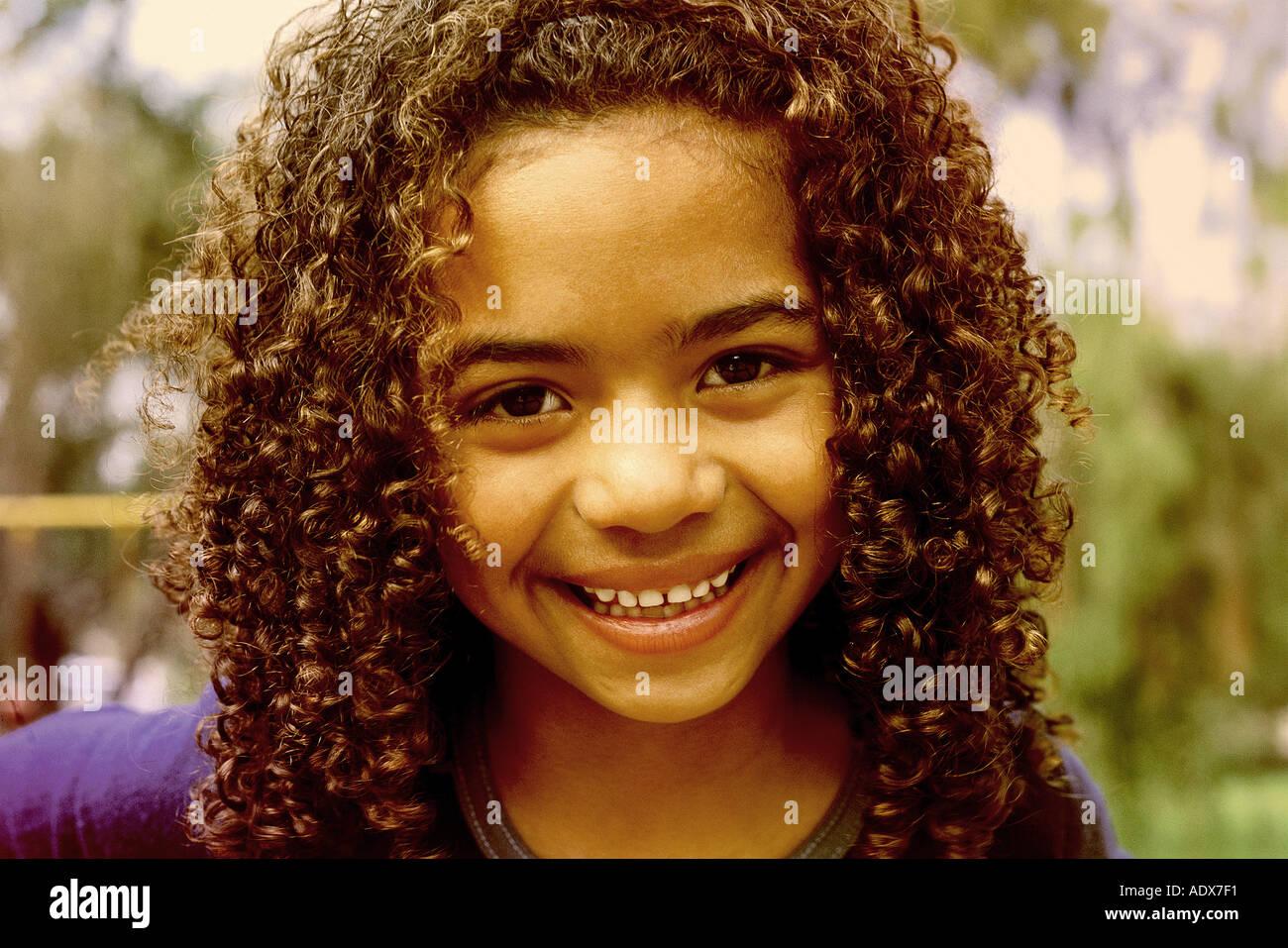 children curly hair brunette smile smiling children afro