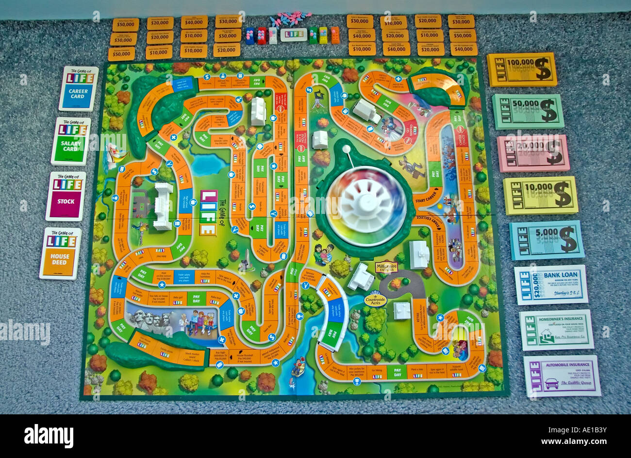 how to play life game board