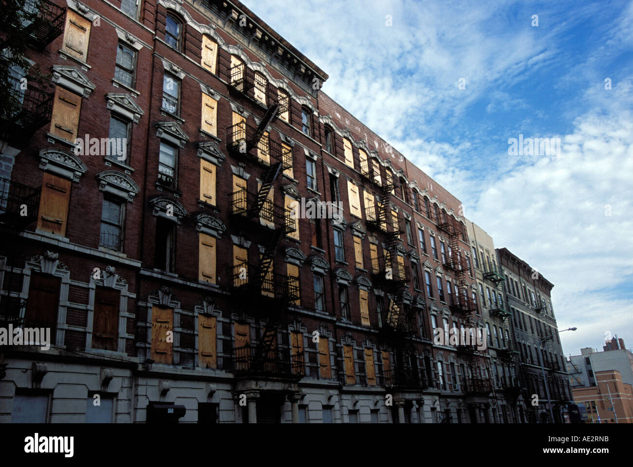 USA New york city Harlem abandoned buildings Stock Photo ...
