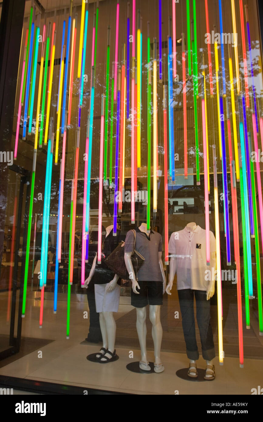Neon clothes store