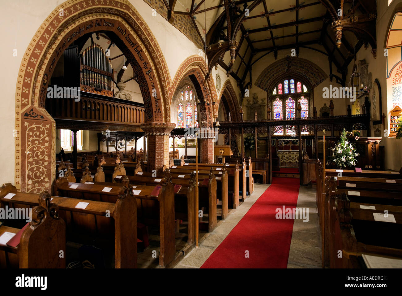 Uk shropshire llanyblodwel st michaels church gothic for Gothic revival interior