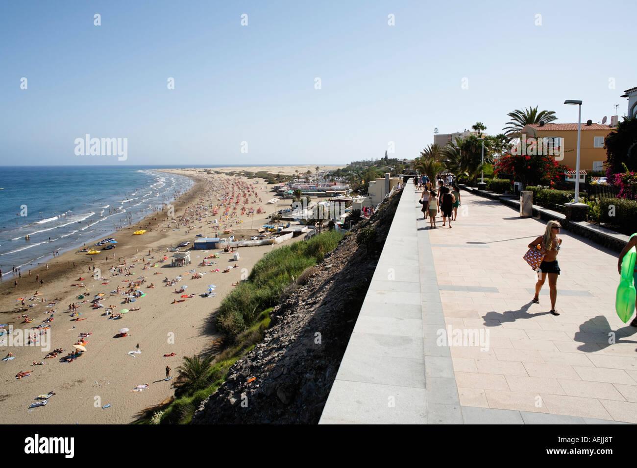 playa del ingles strandpromenade