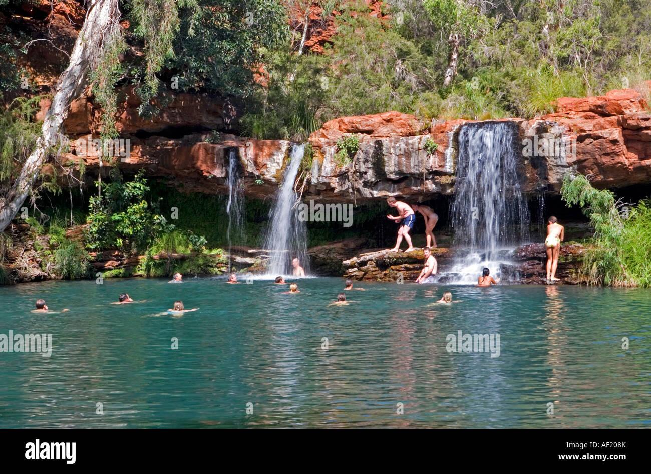 Fern Pool In Karijini National Park Western Australia Stock Photo Royalty Free Image 13804770