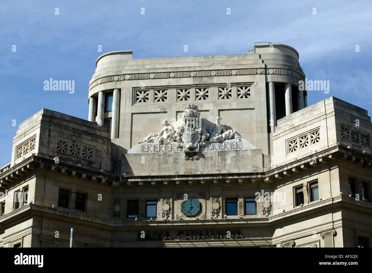 Ornate exterior of caixa catalunya building via laietana for Oficina caixa catalunya barcelona