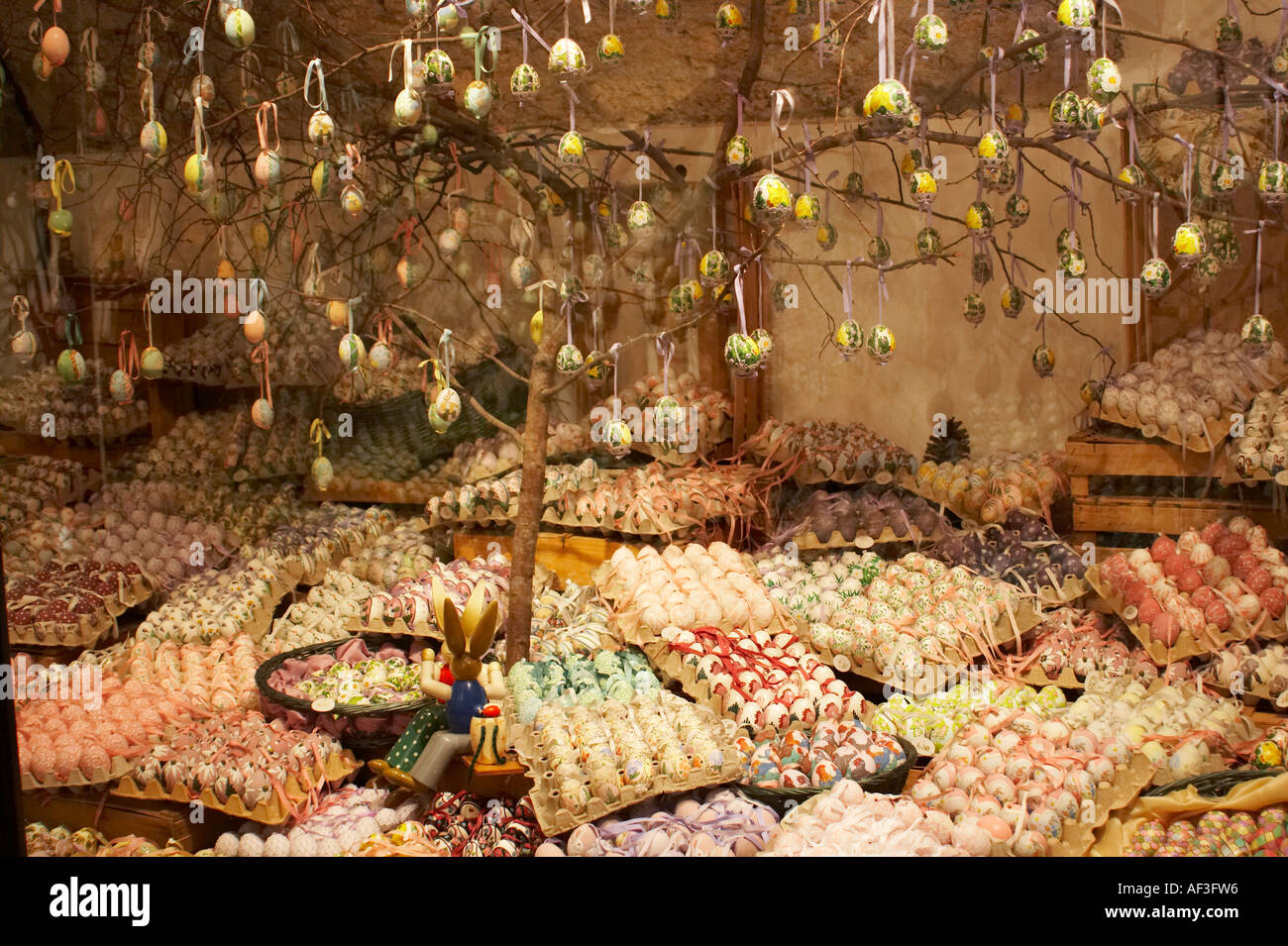 Shop Windows In Salzburg Austria Eggs Easter Stock Photo