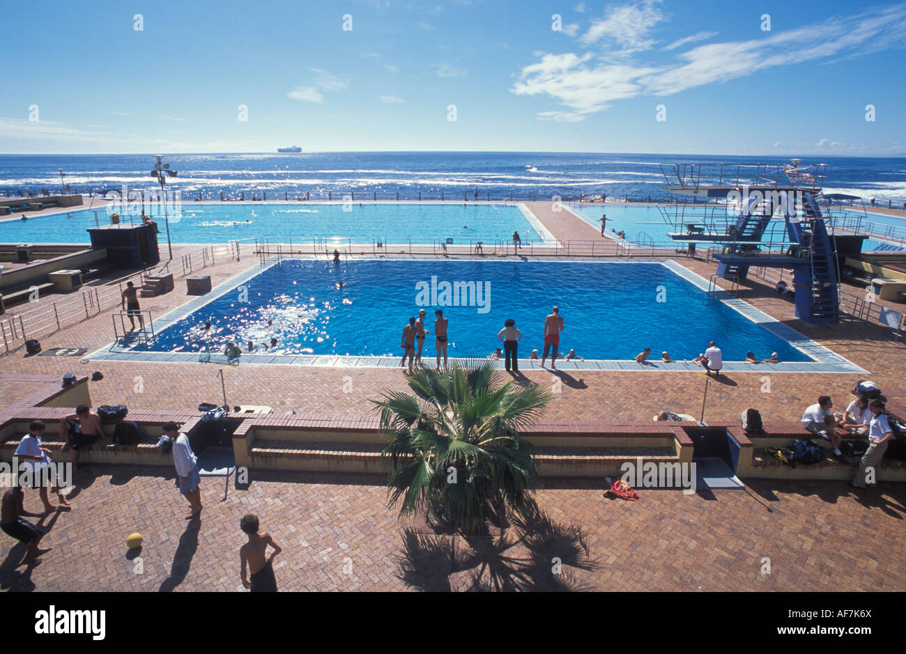 Outdoor Swimming Pool Of Sea Point In Cape Town South Africa Stock Photo Royalty Free Image