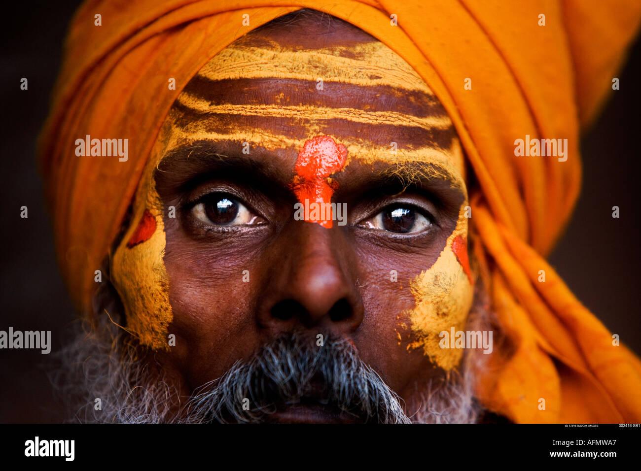 Sadhu holy man Varanasi India Stock Foto