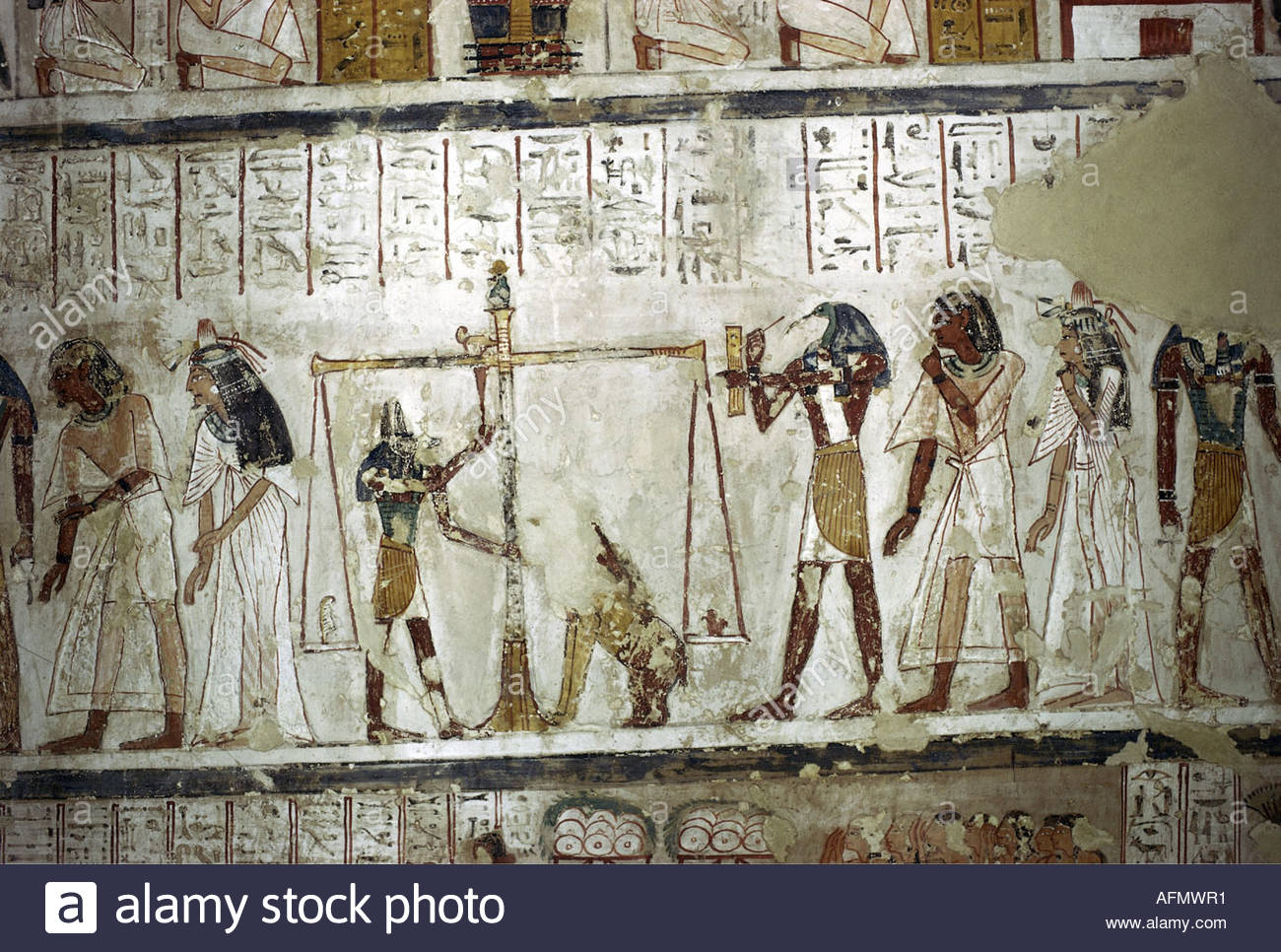 Geography travel egypt religion judgement of the dead for Egypt mural painting