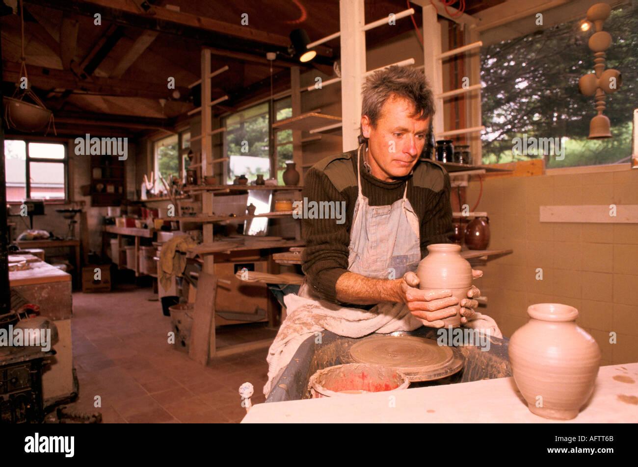 craftsman potter man making pots findhorn community foundation moray stock photo royalty free. Black Bedroom Furniture Sets. Home Design Ideas